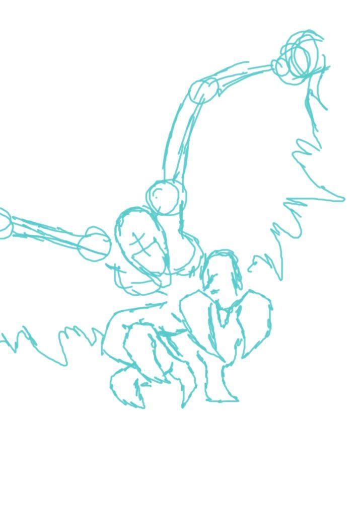 harpy Copy rough sketch